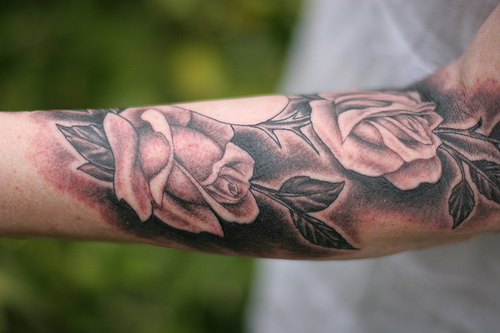 rose tattoo forearm rose tattoos