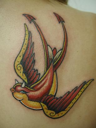 devil bird tattoo