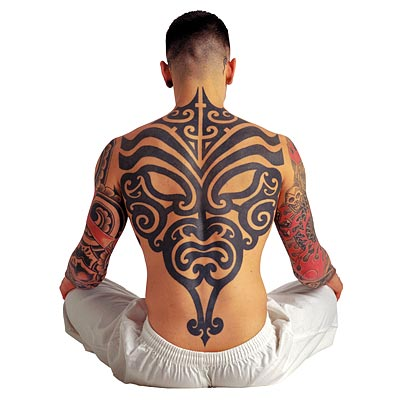 Full Back Tribal Tattoos