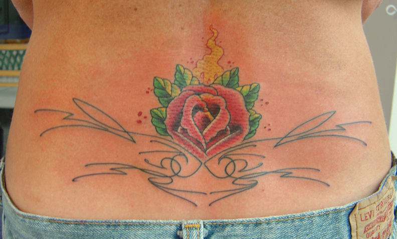 Lower Back Tattoo Design