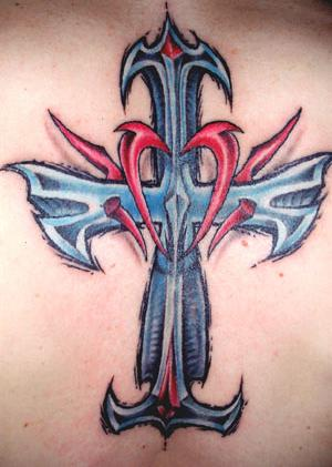 Gothic Cross Tattoos Symbol
